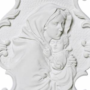 Funeral products: Ferruzzi's Madonna bas-relief with borders, 31 cm