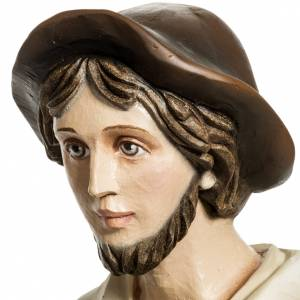 Fiberglas Statuen: Fiberglas Schäfer mit Lamm 60 cm