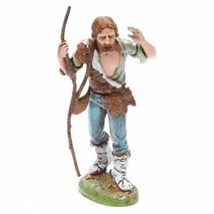 Figura pastor con bastón 12 cm Moranduzzo estilo clásico s1
