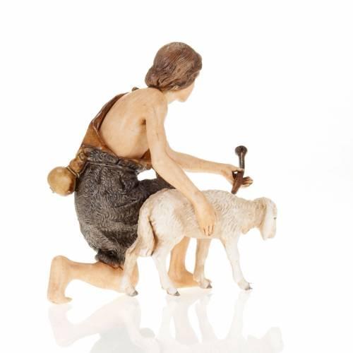 Figurines for Moranduzzo nativities, shepherd with fife and shee s3