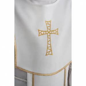 First Communion alb for boy, honeycomb embroidery s5