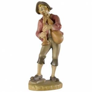 Belén Val Gardena: Flautista 12 cm madera pesebre mod. Valgardena