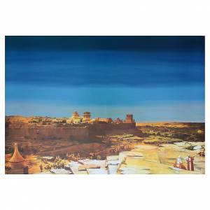 Fond de décor arabe crèche carton 70x100 cm s1