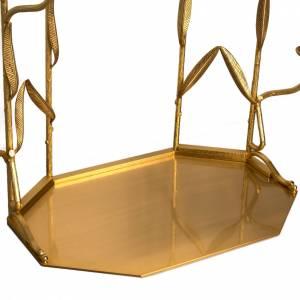 Fondo para trono de exposición con 10 porta velas s4