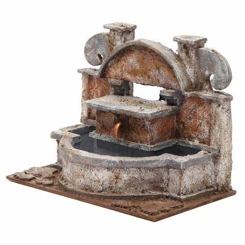 Fontaine crèche rustique avec grande bassine 20x25x15 cm s2