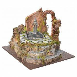 Fontaine de place 4 becs en miniature pour crèche s2