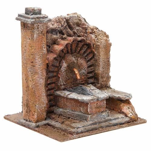 Fontana presepe antica 18x16x16 cm s3