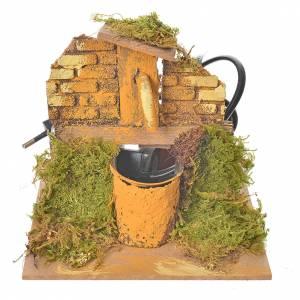 Fuentes: Fuente belén en madera y corcho 13x13x13 cm.