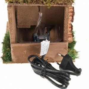 Fuentes: Fuente con tejas para pesebre eléctrica de 2,5 V