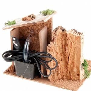 Fuente pesebre eléctrica roca y pared ladrillos 2 watt s2