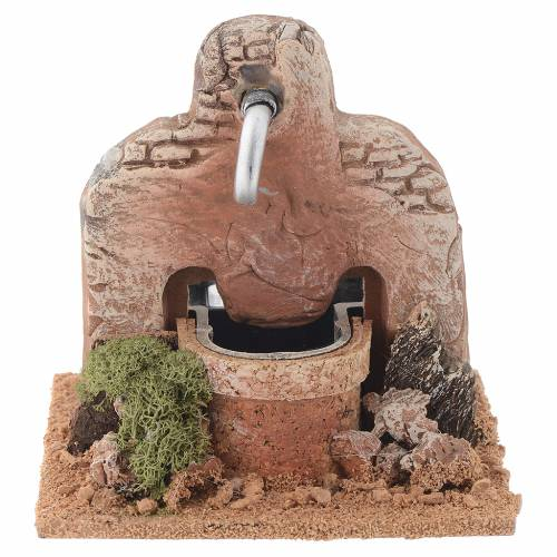 Fuente terracota 13x12x12 cm s1