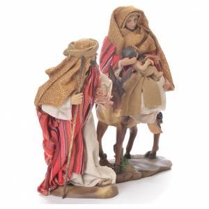 Fuga dall'Egitto 24 cm resina stoffa rosso beige s2