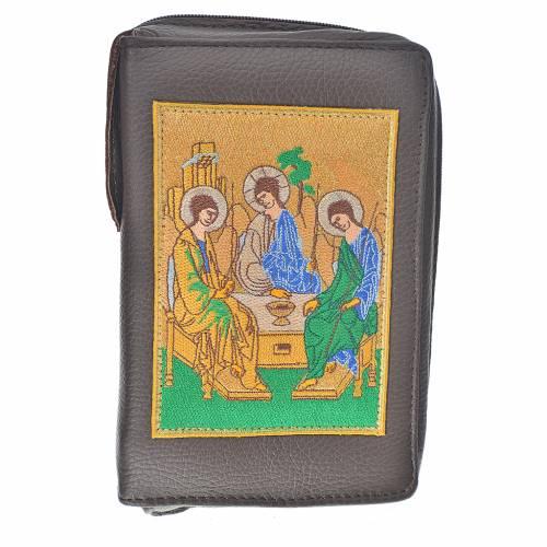 Funda Biblia CEE grande cuero marrón oscuro Trinidad s1