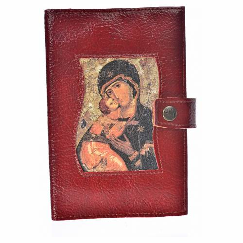 Funda Biblia CEE grande simil cuero broche Virgen s1