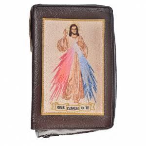 Funda Biblia Jerusalén Nueva Ed. marrón oscuro simil cuero Divina Misericordia s1