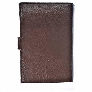 Fundas Biblia de Jerusalén Nueva Edición: Funda Biblia Jerusalén Nueva Ed. simil cuero Sagrada F. marrón oscuro
