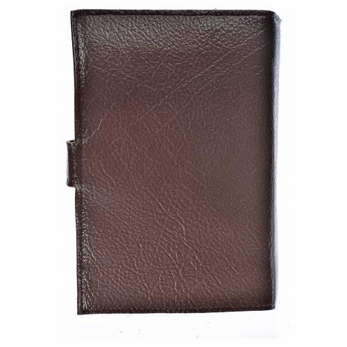 Funda Biblia Jerusalén Nueva Ed. simil cuero Sagrada F. marrón oscuro 2
