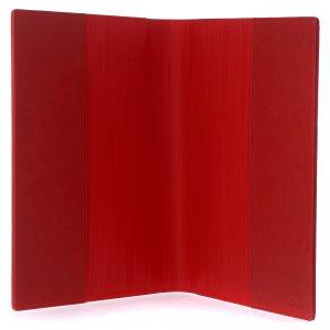 Funda leccionario Evangelistas rojo piel verdadera s4
