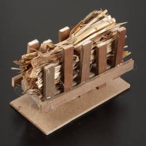 Moos, Stroh und Bäume für Krippe: Futterkrippe mit Stroh 10x5 cm