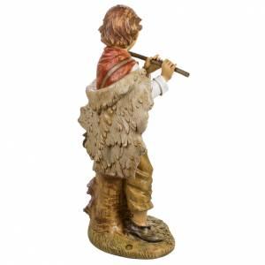 Garçon avec flute crèche Fontanini 125 cm s5