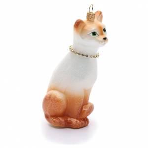 Adornos de vidrio soplado para Árbol de Navidad: Gato Oriental adorno vidrio sopladopara Árbol de Navidad
