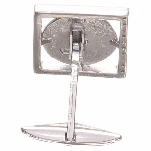 Gemelli camicia argento 800 Madonna Miracolosa 1,7x1,7 cm s2