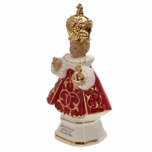 Gesù Bambino di Praga ceramica 16 cm s3