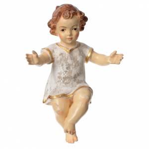 Gesù Bambino vestito legno Valgardena Old Antico Gold s1