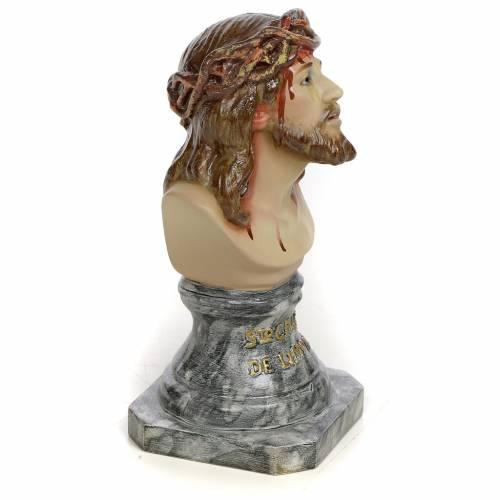 Gesù di Limpias busto 30 cm pasta di legno dec. elegante s2