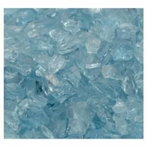 Muschio, licheni, piante, pavimentazioni: Ghiaia presepe vetro azzurro 300 gr