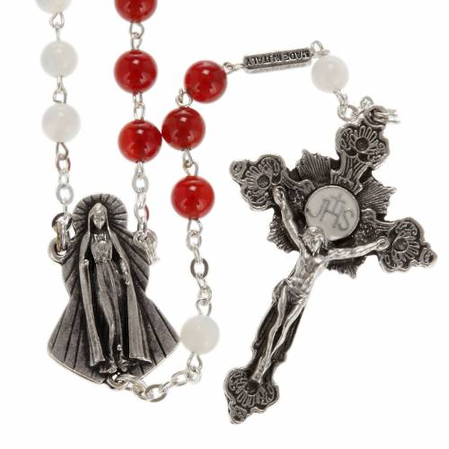 Ghirelli rosary, Agate and mother of pearl Sacred Heart and Merc s1