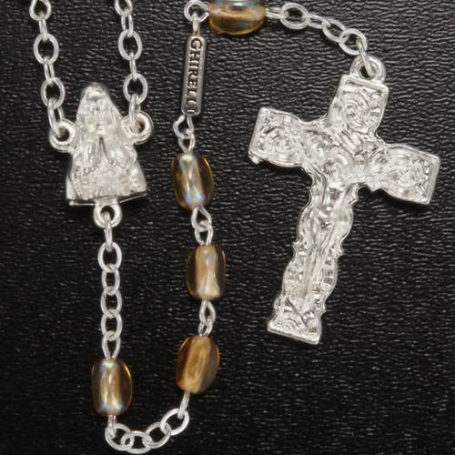 Ghirelli rosary, amber Lourdes grotto 8mm s2