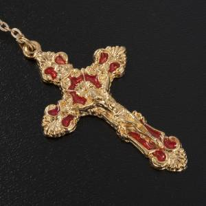 Ghirelli rosary beads in Bohemia opaque crystal 8 cm s3