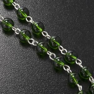 Ghirelli rosary, green glass, St. Patrick 6mm s6