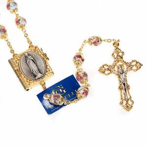 Ghirelli collection rosary beads: Ghirelli rosary hand-painted Bohemia glass beads