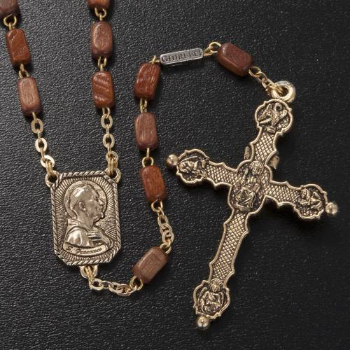 Ghirelli rosary in golden wood 8x5mm s2