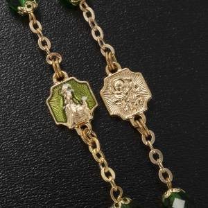Ghirelli rosary, Knock, in green semi-crystal 7mm s6