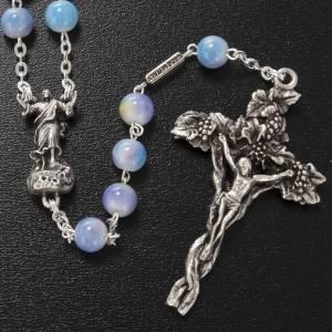 Ghirelli rosary, Resurrected Christ, multicoloured glass 7mm s2