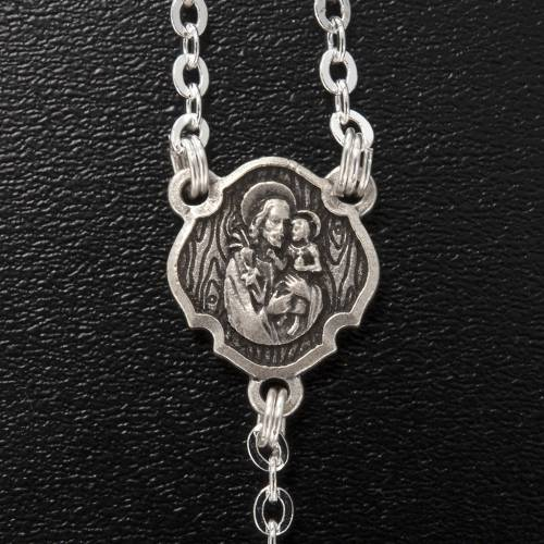 Ghirelli rosary, St. Joseph black glass 4x6mm s4
