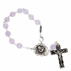 Ghirelli collection rosary beads: Ghirelli single-decade rosary in lilac glass 8mm