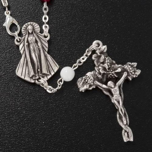 Ghirelli single-decade rosary, red Bohemia glass 6mm s2