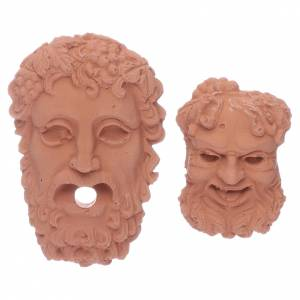 Home accessories miniatures: God heads Zeus and Bacchus