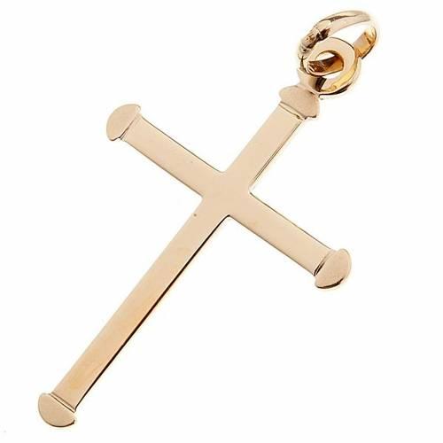 Gold rounded cross pendant - 0,70 gr s1