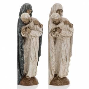 Statuen aus Stein: Gottesmutter mit Johannes Paul II. 27cm. Bethléem.