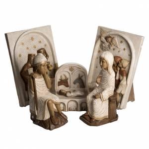 Crèches Monastère de Bethléem: Grande crèche d'Autun blanche pierre Bethléem