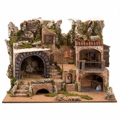 STOCK - Grotta presepi con fontana 80X70X60 s1
