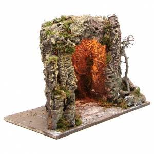 Grotte crèche illuminée 35x50x26 cm s3