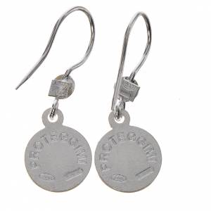 Guardian Angel earrings in 800 silver, white finish s2
