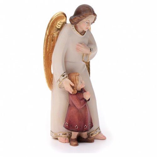 Guardian angel with little girl, modern style in Val Gardena woo s3