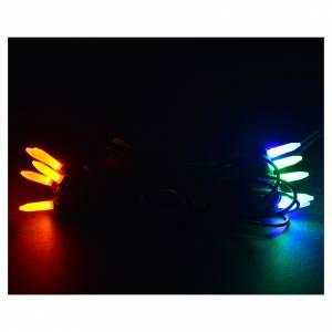 Guirlande 10 bougies leds multicolores pour éclairage interne s2